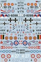 Xtradecal 1/72 Lockheed F-104 Starfighter Collection Part 1 # 72314
